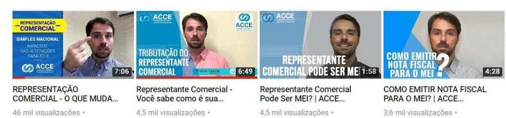 Canal do YouTube da ACCE Contabilidade