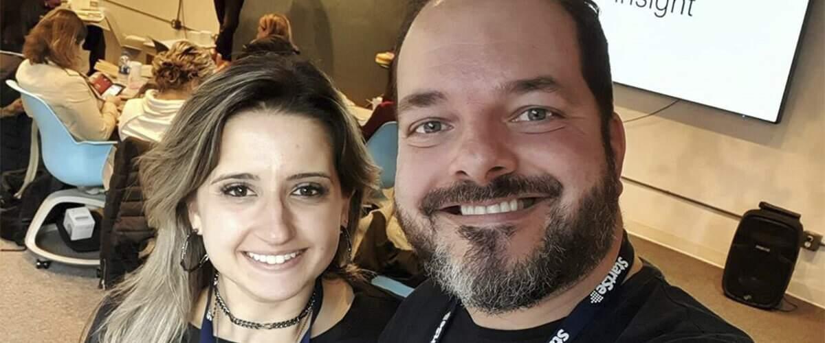 imagem de Fernanda e Anderson na viagem